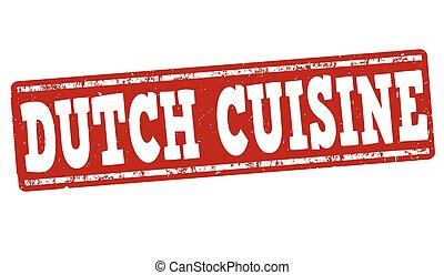 Dutch cuisine stamp - Dutch cuisine grunge rubber stamp on...