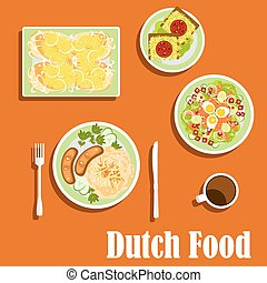 Dutch cuisine traditional dishes and snacks - Dutch cuisine...