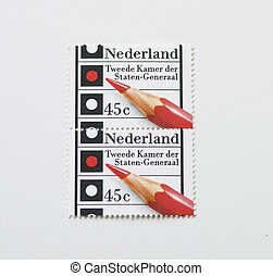 Dutch elections postage stamp