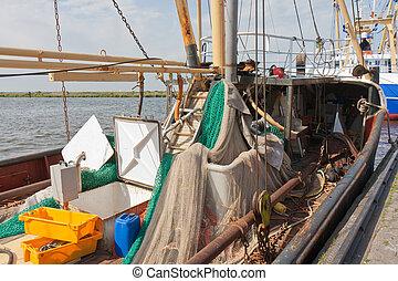 Dutch fishing ships in harbor of Urk