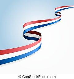 Dutch flag background. Vector illustration.
