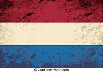 Dutch flag Grunge background.