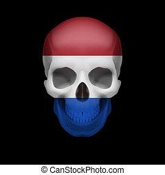 Dutch flag skull