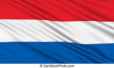 Dutch Flag, with real structure of a fabric