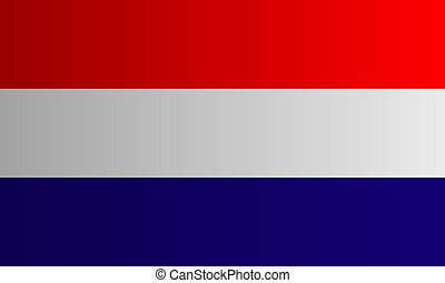 Dutch flag vector. the national flag of the Netherlands