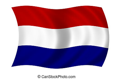 waving flag of holland - dutch flag