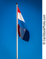 Dutch flag waving in the wind, Netherlands