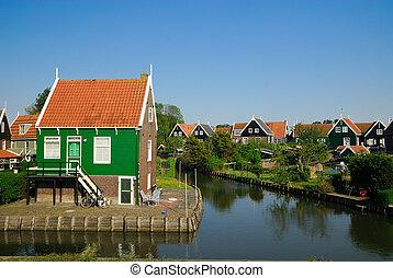 dutch houses in Marken - old dutch houses in Marken a small...