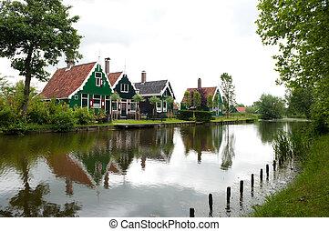 dutch houses - typical dutch houses in the Zaanse Schans...
