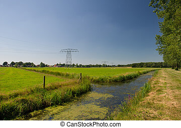 Dutch landscape in Friesland