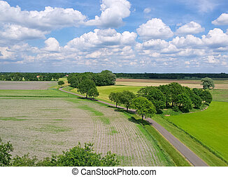 dutch landscape with clouds