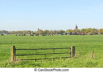 Dutch landscape with small village