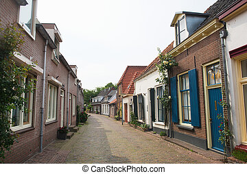 Dutch lane in pittoresque Doesburg