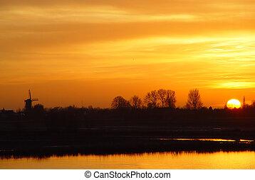 Dutch Mountains - Sunset over the Dutch mountains