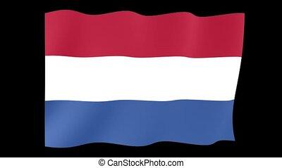 Dutch (Netherlands) flag .  Waving