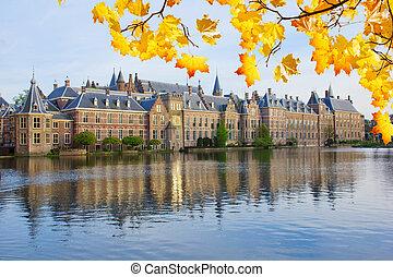 Binnenhof (Dutch Parliament), The Hague (Den Haag) at fall day, Netherlands