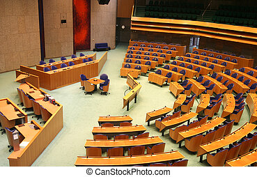 Interior of the Dutch parliament