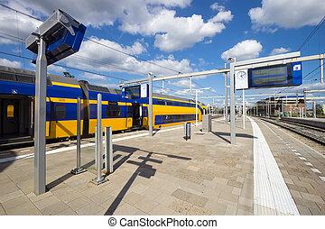 An Intercity train at Arnhem Central Station, The Netherlands