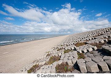 Dutch sea dike