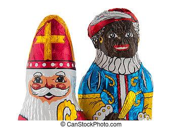 Dutch Sinterklaas and Black Piet - Dutch chocolate...