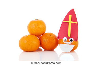 Dutch Sinterklaas on mandarin