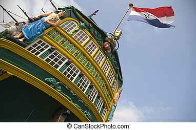 "Dutch tall ship 4 - The dutch tall ship ""Amsterdam"" in the ..."