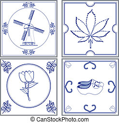 dutch tiles - Image of dutch cultural tiles