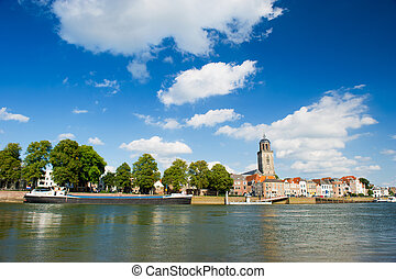 Dutch town Deventer at the river the IJssel
