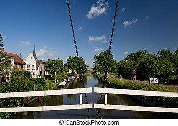 Dutch village at the river - Dutch village near the river...