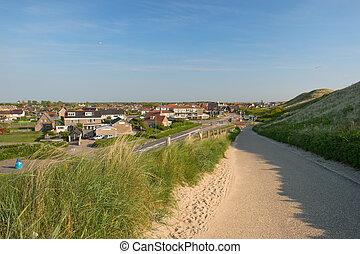 Dutch landscape with village Callantsoog