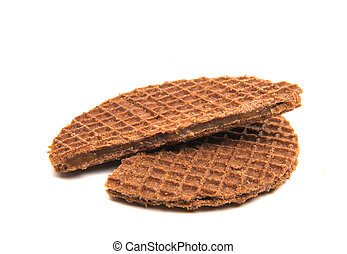 Dutch waffles isolated
