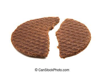 Dutch waffles isolated