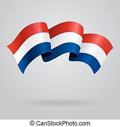 Dutch waving Flag. Vector illustration