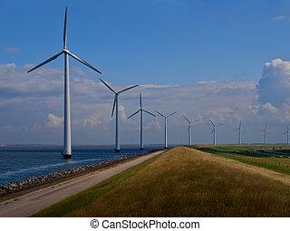 Dutch windfarm overview