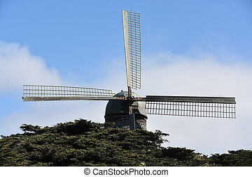 Dutch Windmill at Golden Gate Park in San Francisco, ...