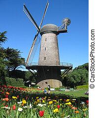 Dutch Windmill in Golden Gate Park, SF California