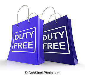 Duty Free Bag Represents Tax Exempt Discounts - Duty Free ...