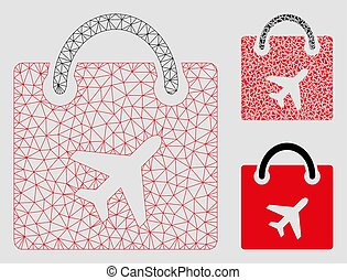 Duty Free Bag Vector Mesh Network Model and Triangle Mosaic...