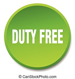 duty free green round flat isolated push button
