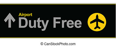 duty free - Duty free airport illustration sign isolated...