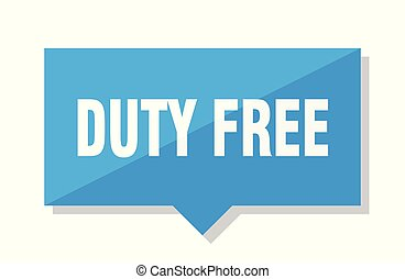 duty free price tag - duty free blue square price tag