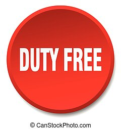 duty free red round flat isolated push button