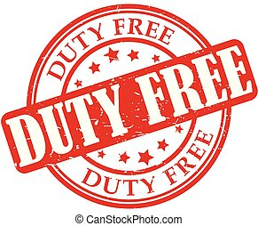 Duty free red stamp