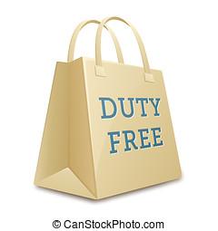 Duty free shopping bag.  illustration