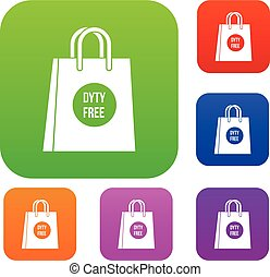 Duty free shopping bag set collection