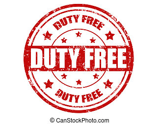 Duty free-stamp