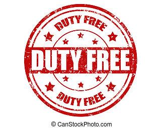 Duty free-stamp