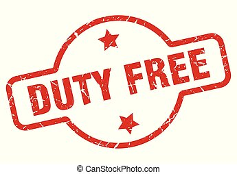 duty free stamp isolated on white