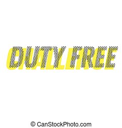 DUTY FREE stamp on white