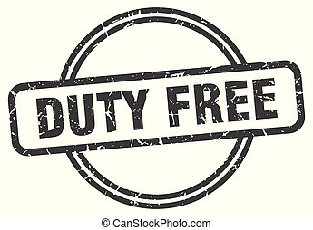 duty free vintage stamp. duty free sign